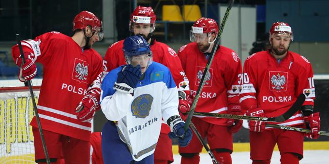 Сборная Казахстана лишь в овертайме обыграла Польшу