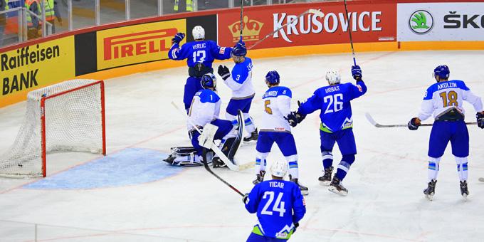 Сборная Казахстана проиграла Словении