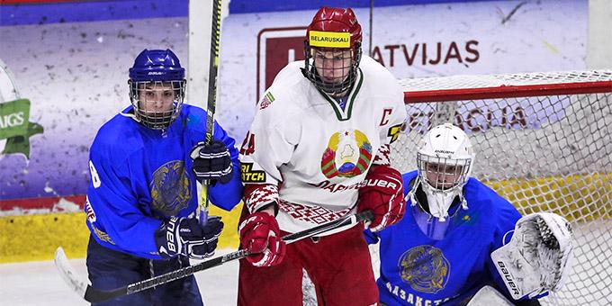 Юниорская сборная Казахстана крупно проиграла Беларуси