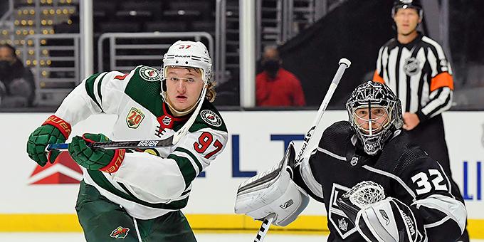 Кирилл Капризов забросил первую шайбу в НХЛ