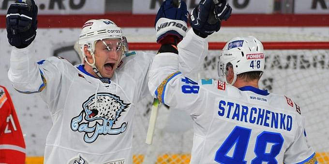 Аркадий Шестаков провёл 100 матчей в КХЛ