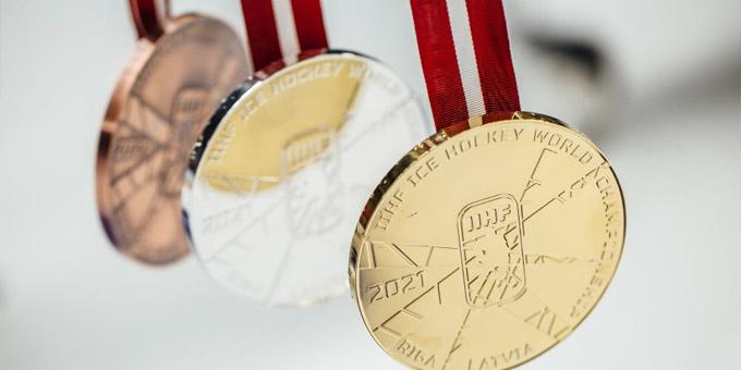 Представлен дизайн медалей чемпионата мира в Риге