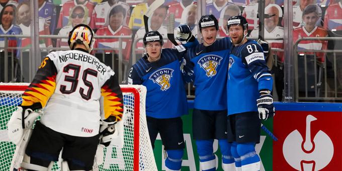 Финляндия обыграла Германию и вышла в финал чемпионата мира