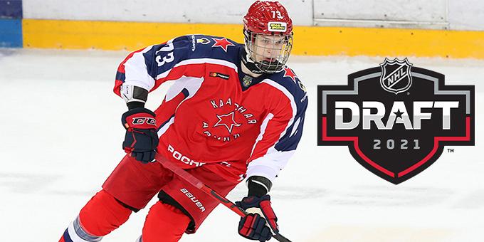 """""""Вегас"""" выбрал Даниила Чайку на драфте НХЛ"""