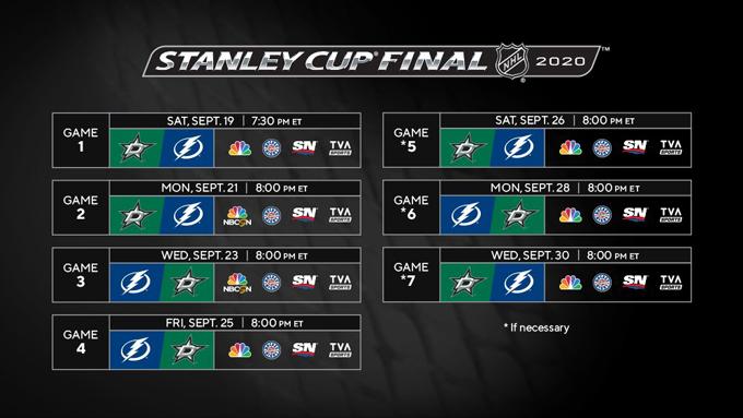 Стал известен календарь матчей финальной серии Кубка Стэнли