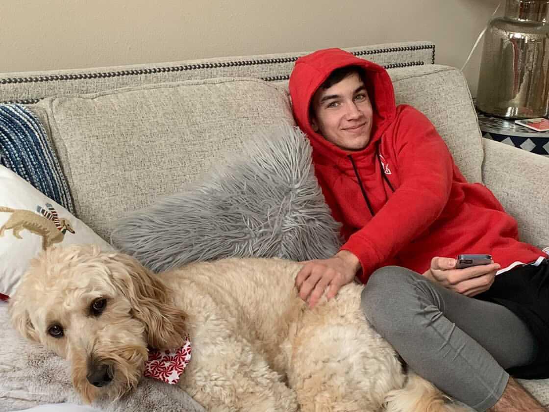 Андрей Буяльский и большая собака